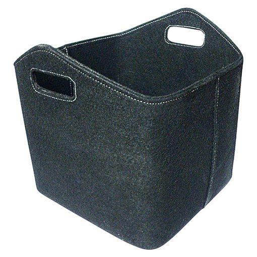 Črna košara iz filca