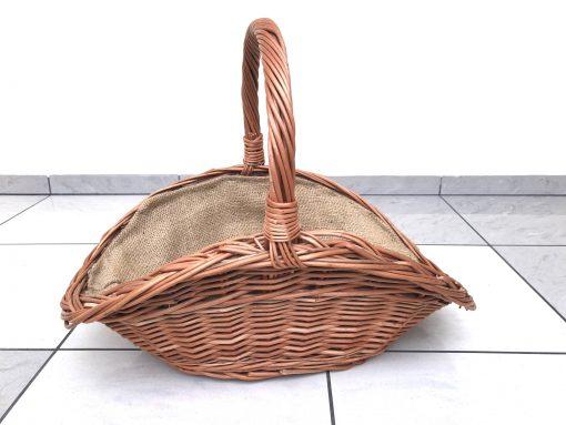 Pletena lesena košara za drva visokokakovostne vrbe